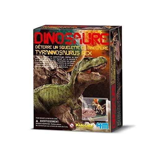 Barrutoys MAQUETA DE CONSTRUCCIÓN Marca 4M Colección DESENTERRAR Dinosaurio Tyrannosaurus Rex Niños + 8 años