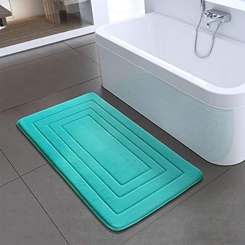 JJIAOJJ Alfombra de baño Alfombra de Ducha 1PC Espuma Antideslizante Estera de Dormitorio Cocina Baño-Verde_50x80 cm