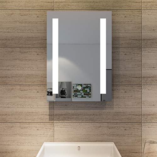 SONNI Badspiegel led Spiegel mit LED Beleuchtung Wandspiegel Badzimmerspiegel kaltweiß IP44 energiesparend Touch-Schalter