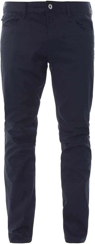 Emporio Armani Cotton Slim Fit Navy Jeans