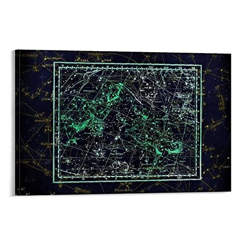 STTYE Interstellar Poster Decoraciones Moderm Wall Art Constellation Pintura sobre lienzo Casa Cuadros 60 x 90 cm