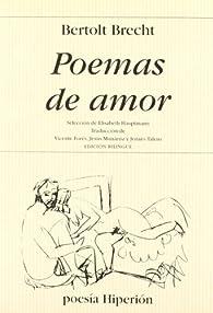 Poemas de amor par Bertolt Brecht