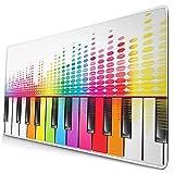 wsnwcy tappetino per mouse carino,rainbow key piano sound wave line, tappetino per mouse rettangolare in gomma antiscivolo per desktop, tappetino per scrivania da gioco, 15,8 x 29,5 pollici
