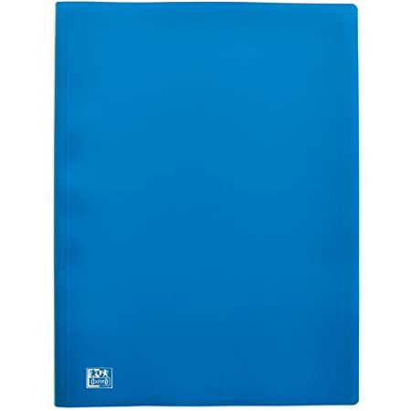 OXFORD Protège-Documents Initial A4 60 vues / 30 Pochettes Couverture Polypro Bleu