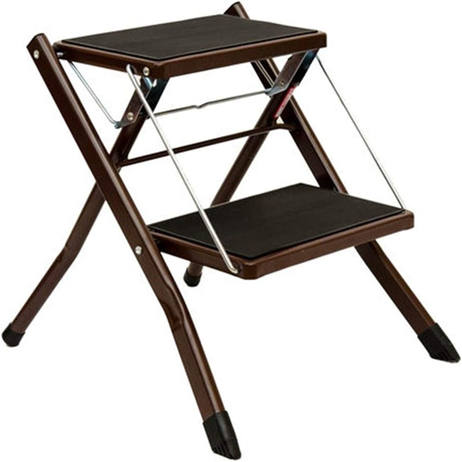 Stools Step Stool Iron Household Folding Ladder Stool Convenient Multi-Function Stool Home Two-Step Ladder Room Built-in Rack Supermarket Factory Ascending Ladder Indoor Outdoor Stool Ladder