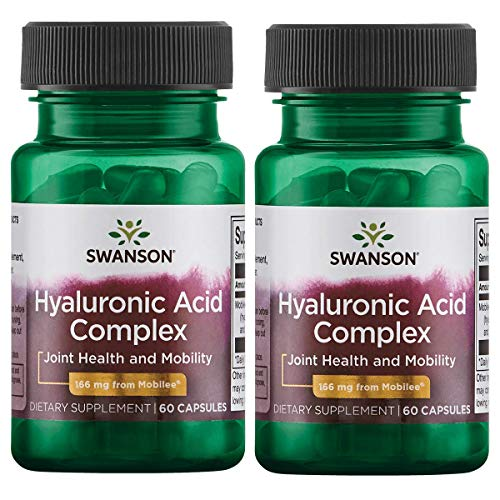 Swanson Hyaluronic Acid Complex 166 mg 60 Caps 2 Pack