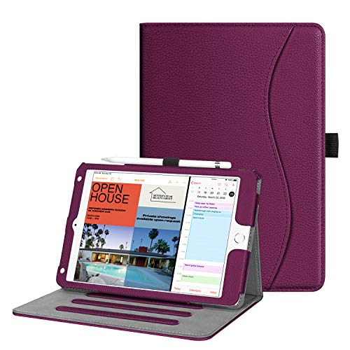 FINTIE Case for iPad mini 5 2019 / iPad mini 4 - [Corner Protection] Multi-Angle Viewing Smart Folio Cover w/Pocket, Pencil Holder, Auto Wake/Sleep, Purple