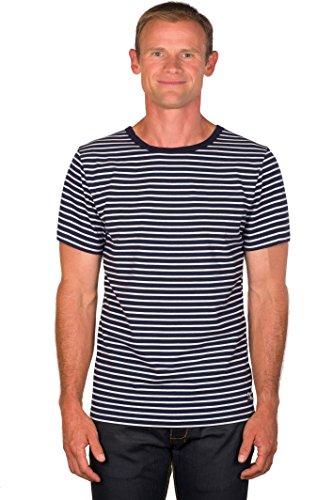 Ugholin - Camiseta Marinera con Cuello Redondo de Manga Cort