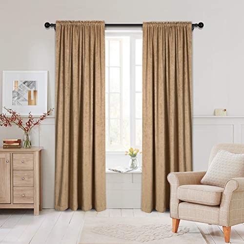 Double-Sided Chenille Curtains for Living Room Coffee Window Treatment for Bedroom Curtain,52inchX84inch, Rod Pocket, 2 Panles