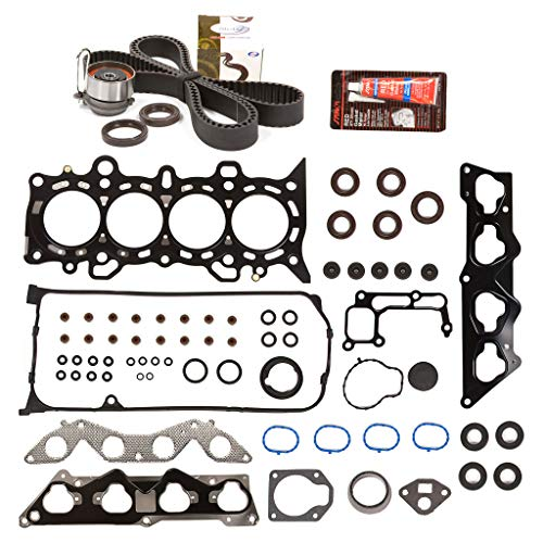 Evergreen HSTBK4034 Head Gasket Set Timing Belt Kit Compatible with/Replacement for 01-05 Honda Civic 1.7 D17A2 D17A6