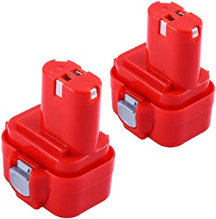 2 Packs 3000mAh Replace for Makita 9.6V Battery NI-MH 9100 9100A 9101 9101A 9102 9102A 192019-4 192321-5 192404-1 192534-8 192534-A