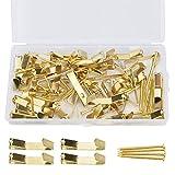 Drado 50 ganci dorati con 50 chiodi per appendere cornici foto piccoli oggetti decorazione casa