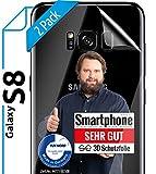[2 Stück] 3D Schutzfolien für die Rückseite kompatibel mit Samsung Galaxy S8 - [Made in Germany - TÜV Nord] - Transparent - Selbstheilend - kein Glas sondern Panzerfolie TPU - Back - Klar - Hinten