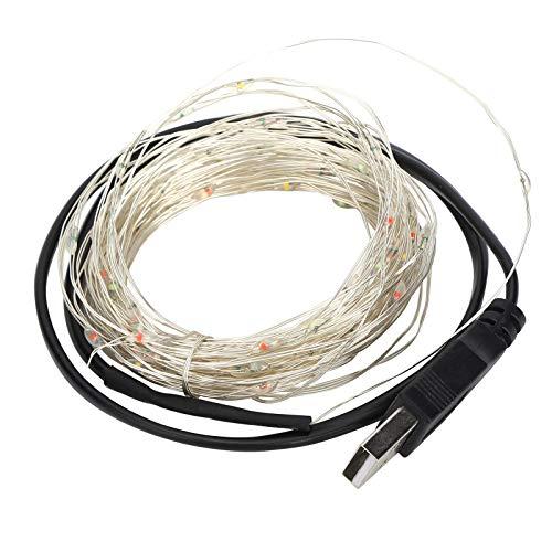 Cadena de luz LED flexible, duradera y segura, de bajo consumo, resistente al agua, 32.8 pies para fiestas(IPL)