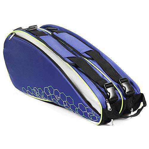 belupai - Borsa da Tennis Professionale, Impermeabile, per Racchette da Badminton, Accessori per 6-12 Racchette, 190910TN32-2-1030-1341598062, Blu.