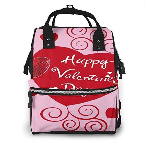 Cyloten - Bolsa para pañales con diseño de corazones y bandera de jardín, gran impermeable, para momia, multifunción, bolsa de cambiador duradera, bolsa de picnic con aislamiento para viajar mamá