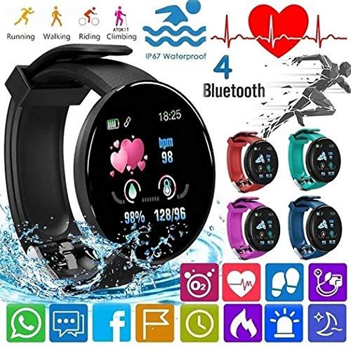 Smartwatch orologio Bluetooth Multifunzionale di Forma Rotonda Casual Unisex