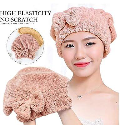 MINGLIFE Microfiber Hair Drying Caps, Soft  Ult...