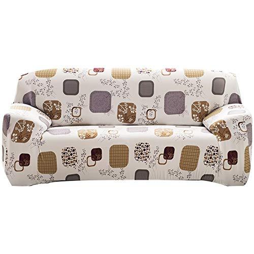 Funda de sofá Tight Wrap Todo Incluido Funda de sofá Antideslizante Toalla de sofá Fundas de sofá de Esquina en Forma de L para Sala de Estar A16 1 Plaza