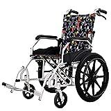 SUN RNPP Accessoires pour fauteuils roulants et scooters électriques Fauteuil Roulant Alliage d'aluminium portatif de Dossier Pliable médical d'entraînement léger avec Le Repos de Levage