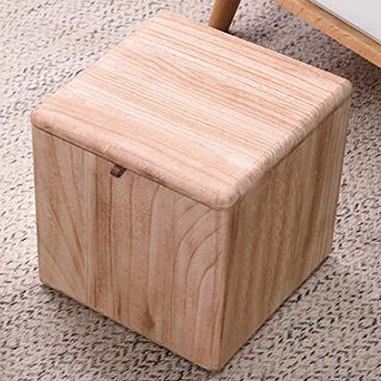 SYFO Home Multi-Function Square Stool, Fashion Fabric Stool, Creative Storage Stool, Simple shoes Bench Stool (color   White)
