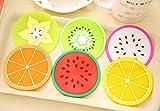 Tumao 7 Stück kreative Silikon Frucht Untersetzer Frucht-Scheiben Silikon Untersetzer, Getränk Kaffee Tee Glas Glasuntersetzer Becher Halter Mat für Küche Wohnzimmer und Bar. - 2