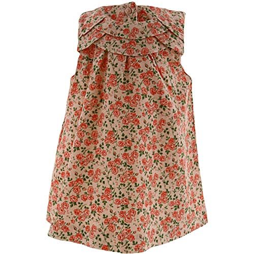 Janie and Jack White Floral Corduroy Dress Playwear - 0-3 Months