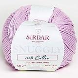 Sirdar 100% algodón, (769) Rosa polvorienta, 50 g, 106