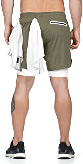 Malavita Men's 7 Workout Shorts Running Athletic Short with Towel Loop