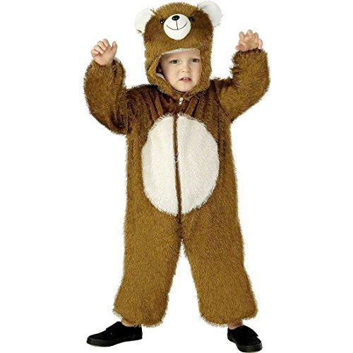 NET TOYS Costume d'ours pour Enfant déguisement Brun Taille 3-5 Ans 115/128 cm Ours déguisement Costume d'ourson pour Enfant Costume Animalier d´2guisement pour Enfant Ours Carnaval