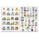 CLEAN SPORTS® Alphabet und Zahlen DinA1 Lernposter für