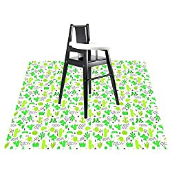 Cactus high chair splat mat