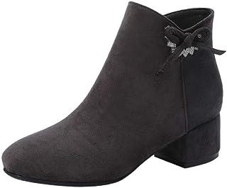 JOJONUNU Women Fringe Ankle Boots