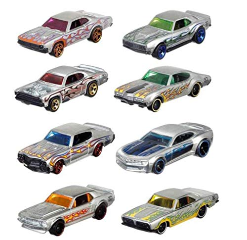 Hot Wheels Mattel 50th Anniversary Zamac Model Cars Set de 8 FRN23