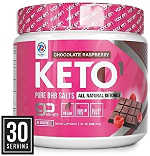 Exogenous Ketones Supplement with Beta Hydroxybutyrate BHB Salts for Ketogenic Diet – Keto Powder Drink to Help Reach Ketosis, Weight Control, Reduce Stress, Boost Energy (Chocolate Raspberry 30 SRV)