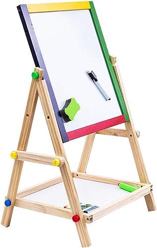 DorisAA-Toy Jeu de Jouets Tablette à Dessin pour Enfants Sketchpad Easel 65CM de Tableau en Bois de Couleur Double-Face magnétique de Tableau magnétique Fournitures d'éducation précoce