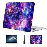 Compatible con Macbook Air 11'13' Pro 15'16' Estuche rígido de plástico Galaxy Night Print para Macbook Accesorios de protección de Estuche de 11 Pulgadas con Alfombrilla de ratón