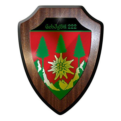 Wappenschild/Wandschild/Wappen - GebJgBtl Gebirgsjäger Bataillon 222#8408