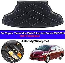 Rear Boot Cargo Liner Trunk Floor Mat Carpets Tray Mats Carpet For Toyota Yaris Vios Belta Limo 2007-2012 2013 4 Door Sedan