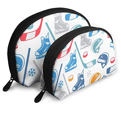 Portable Shell Makeup Storage Bags Ice Hockey Equipment Elements Travel Waterproof Toiletry Organizer Clutch Pouch for Women