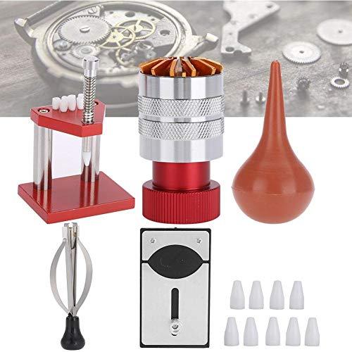 Útil 5pcs la reparación del reloj del kit del sistema de goma de aire del ventilador de polvo reloj detrás encajona la mano Herramienta de configuración for el kit de herramienta de la reparación del