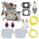Wellsking C1M-W26C 545070601 Carburetor for Poulan Pro P3314 P3416 P3816 P4018 PP3416 PP3516 PP3816 PP4018 PP4218 PPB3416 SM4218AV S1970 Power Gas Chainsaw + Air Filter Spark Plug