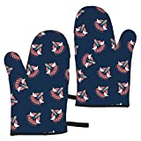 Ye Hua Imagine Creation Professional Heat Resistant Non-Slip Kitchen Oven Gloves for Grilling, Cooking, with Hanging Loop, Easy to Clean