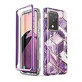 i-Blason Handyhülle für Samsung Galaxy S20 Ultra Hülle Glitzer Hülle Bumper Schutzhülle Glänzend Cover [Cosmo] OHNE Bildschirmschutz 6.9 Zoll 2020 Ausgabe (Lila), Galaxy-S20Ultra-Cosmo, Ameth