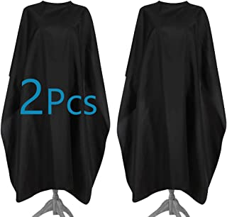 """SMYH 2 Packs Hair Salon Cape Professional Barber Cape for Hair Cutting Adults Black 47"""" x 59"""""""