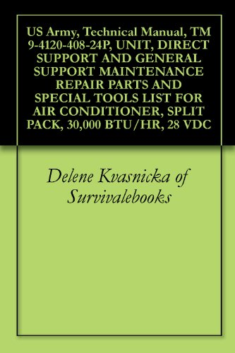 US Army, Technical Manual, TM 9-4120-408-24P, UNIT, DIRECT SUPPORT AND GENERAL SUPPORT MAINTENANCE REPAIR PARTS AND SPECIAL TOOLS LIST FOR AIR CONDITIONER, ... 30,000 BTU/HR, 28 VDC (English Edition)