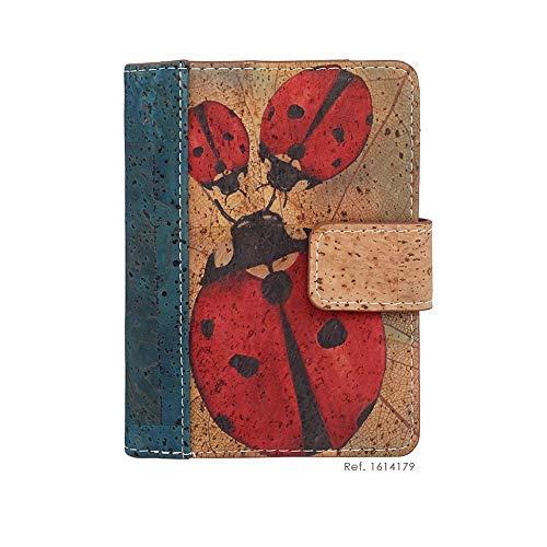 Damen Geldbörse Portemonnaie Portemonnaie mit Reißverschluss Original aus portugiesischem Öko-Kork Design/Blockierung von unerwünschten RFID-Lesegeräten. (VAQUILLA SAN Antonio)
