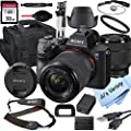 Sony Alpha a7 III Mirrorless Digital Camera with 28-70mm Lens, 32GB Card, Tripod, Case, and More (18pc Bundle) from Sony intl