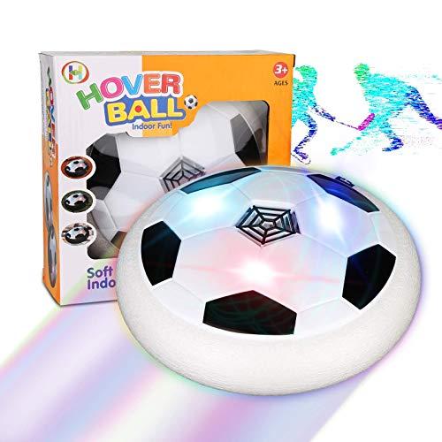 Etmury Air Power Fußball Kinderspielzeug, Hover Power Ball Indoor Fußball mit Fußballtor LED Beleuchtung,Outdoor Spiele Für Kinder für 3-12 Jährige Jungen Kinder Mädchen Haustier Außen Innen