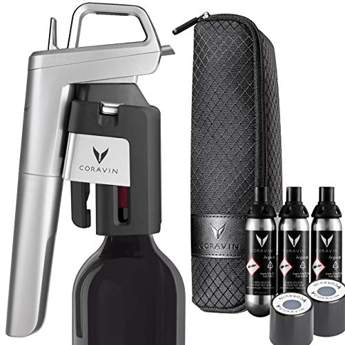 Coravin Model Six Advanced Wine Bottle Opener and Preservation System, Silver